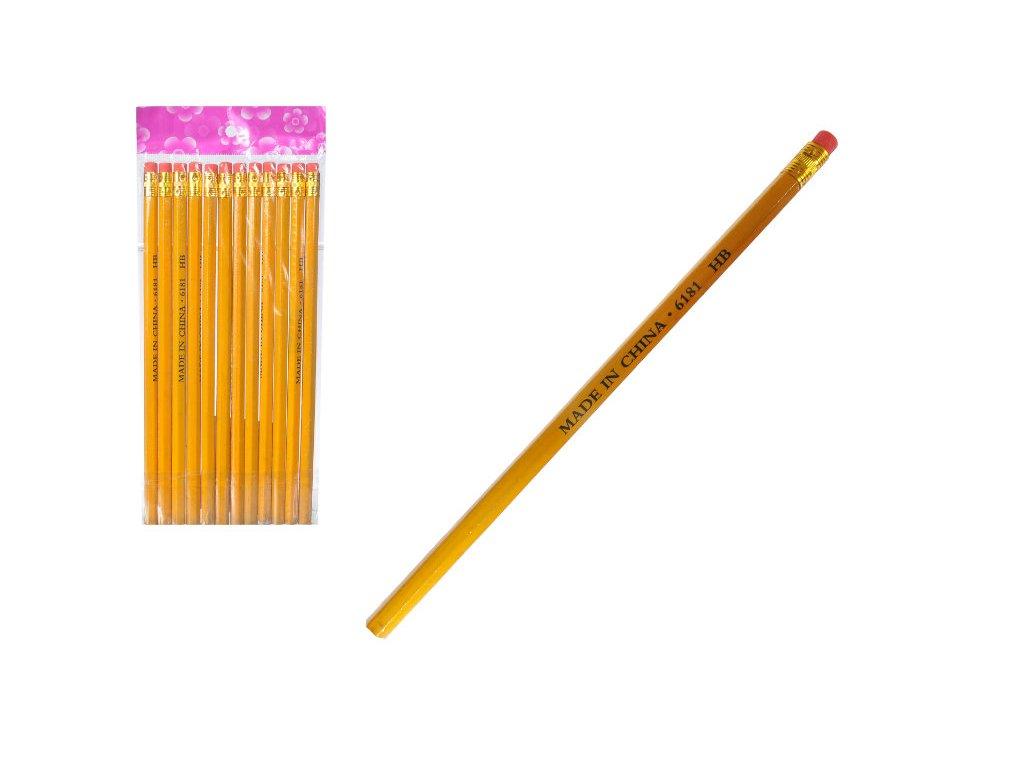 hb tužky s gumou