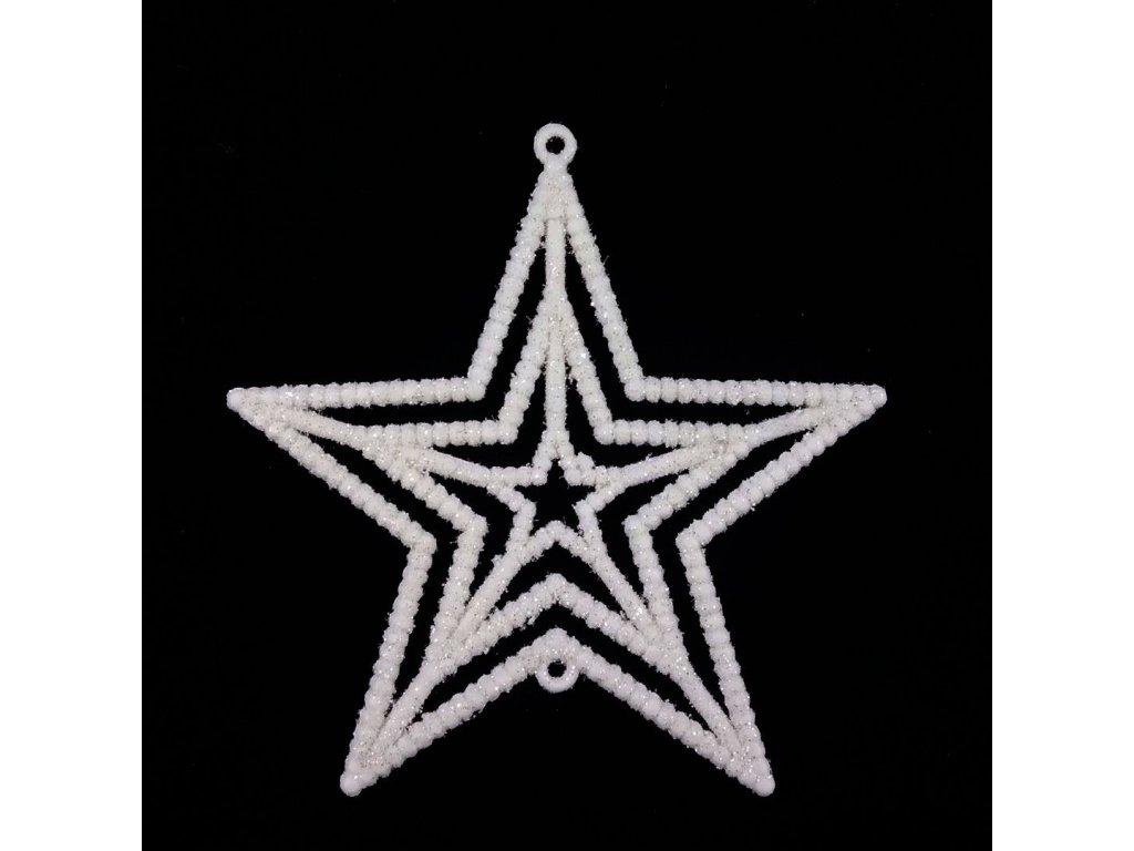vánoční hvězdy bílé 3 ks