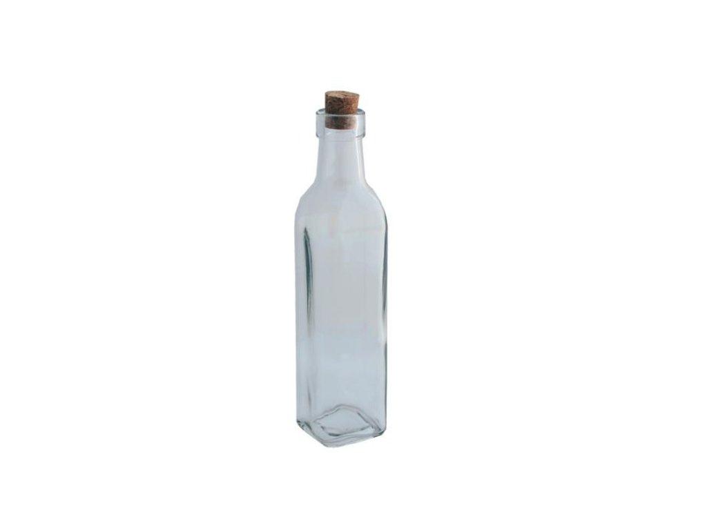 skleněná lahev s korkovým špuntem