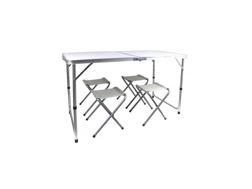 skládací stůl s židlemi