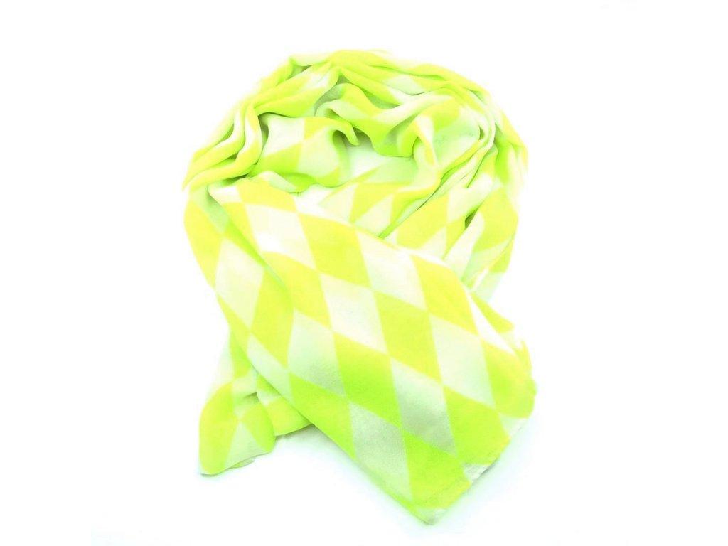 šátek neon žlutý káro