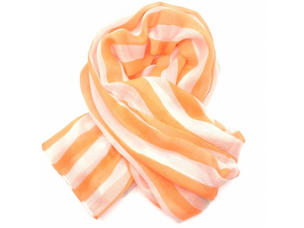 šátek oranžové pruhy