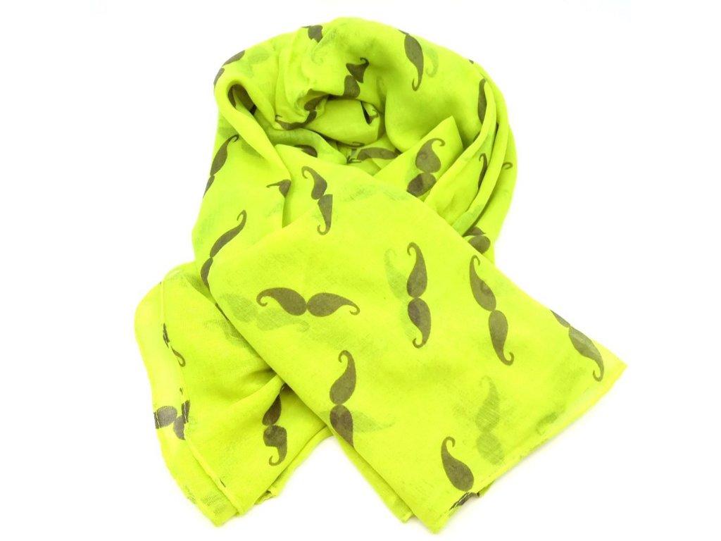 šátek žlutý knír