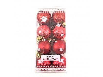 Vánoční ozdoby červené