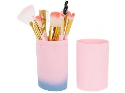 Sada štětců na make up růžová 1