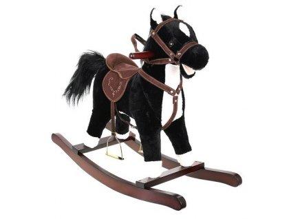 Houpací kůň se zvuky černo bílý 1