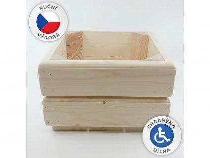 Dřevěný truhlík 24x24x15,5cm