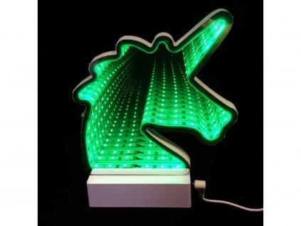 3D nekonečné světlo jednorožec