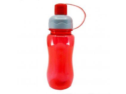 plastová láhev červená