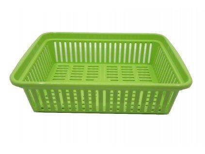 11236 4 plastovy kosik 25x18 5x7 cm zeleny