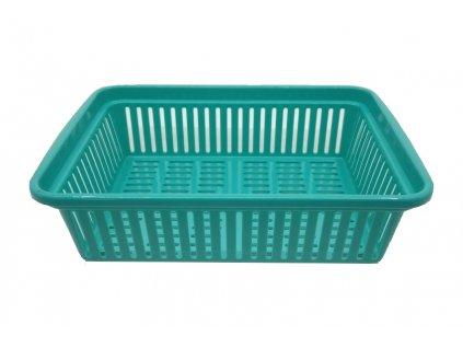 11242 5 plastovy kosik 25x18 5x7 cm tmave zelena