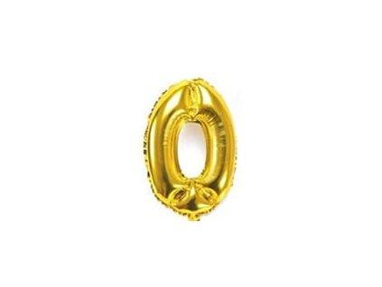 nafukovací balónky 0 zlatý