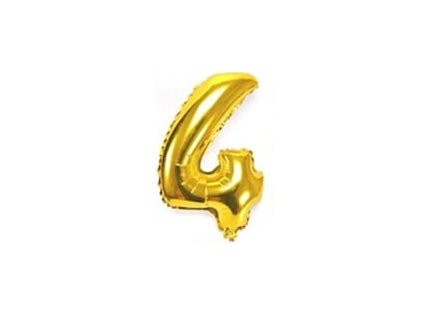nafukovací balónky 4 zlatý
