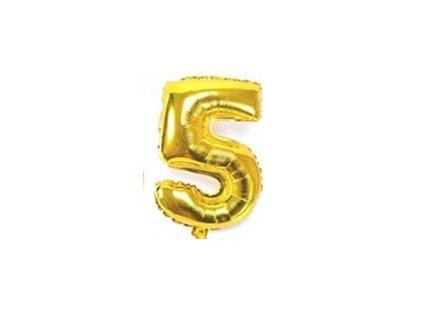 nafukovací balónky 5 zlatý