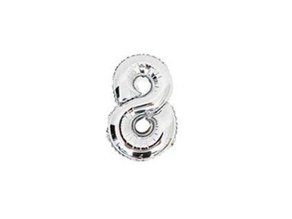 nafukovací balónky 8 stříbrný