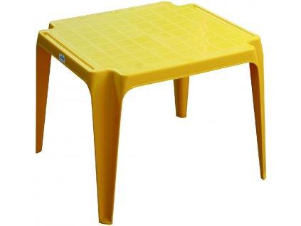 stoleček žlutý