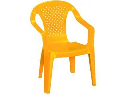 dětská zahradní stolička žlutá