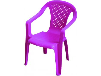 dětská zahradní stolička růžovájpg