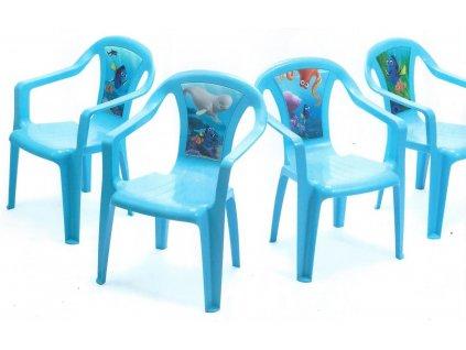 židlička modrá nemo