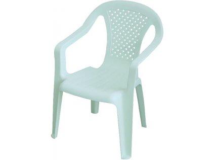 dětská židllička bílá