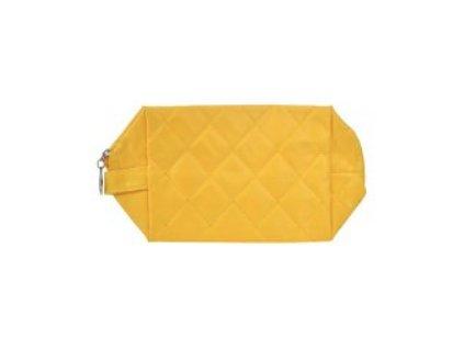kosmetická taška prošívaná žlutá