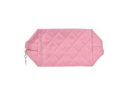 kosmetická taška prošívaná růžová