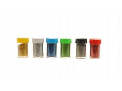třpytky dekorační mix barev