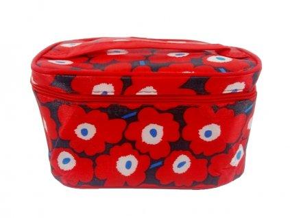 12604 kosmeticky kufrik se zrcatkem kvety