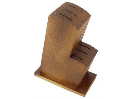 Blok na 6 nožů dřevo