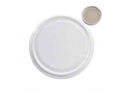 Zavařovací víčka bílá 100 10 ks