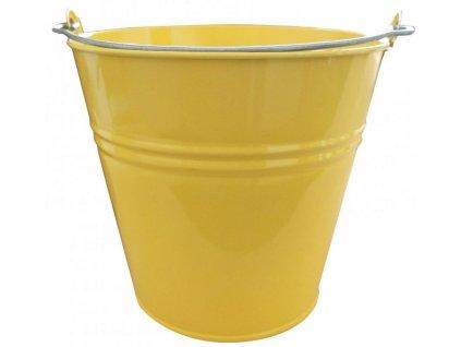 vědro pozinkované 10L žluté