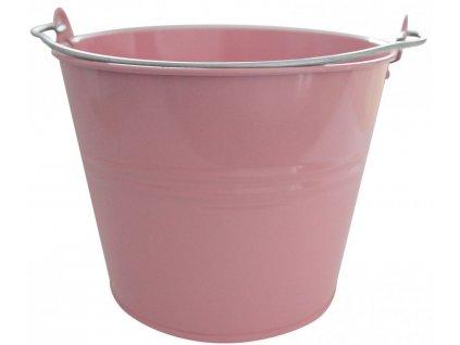 Vědro lakované 10L růžové
