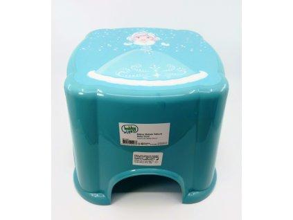 stolička modrá