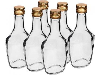 sada skleněných láhví 6 x 250 ml