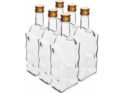 skleněné láhve 4 x 200 ml