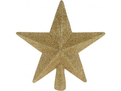 Vánoční špice hvězda zlatá 19 cm