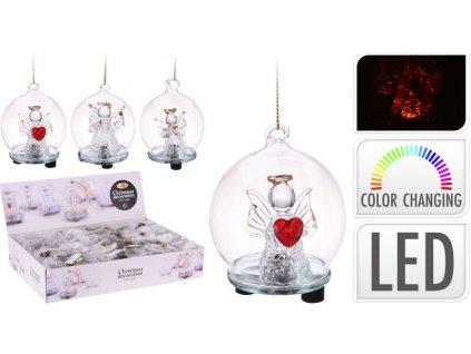 Vánoční ozdoba anděl LED svítící