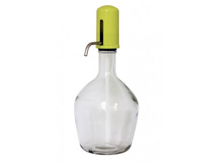 Skleněná nádoba s dávkovačem tekutin žlutá