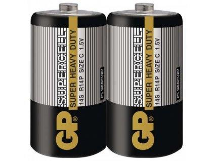 gp baterie male mono supercell r14p 1 5v 2 ks