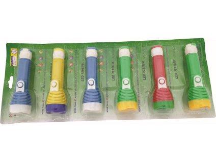 Svítilna 15 x 4 cm 1 x LED mix barev plast