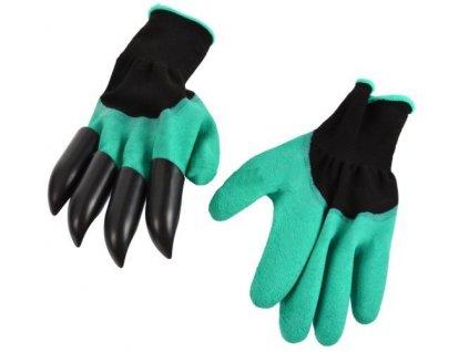 zahradni rukavice s drapy geko 6