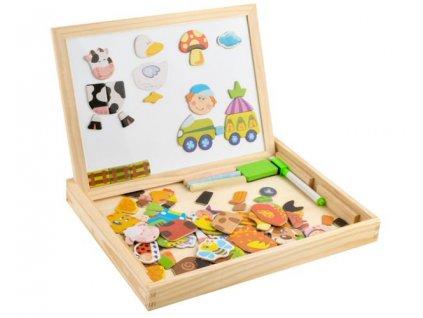 Dřevěná magnetická tabule 3