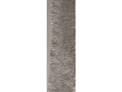 Řetěz vánoční 1,8 m / 7 cm / stříbrný