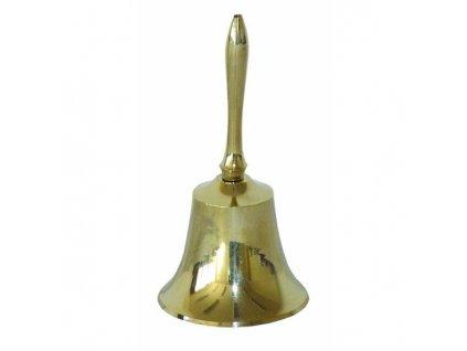 Zvonek vánoční 11cm zlatý