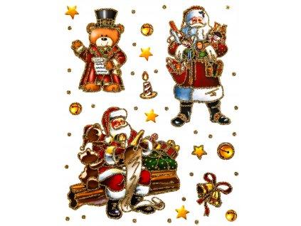 Samolepky na okno Santa Claus