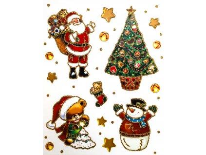 Samolepky na okno vánoční vánoční strom
