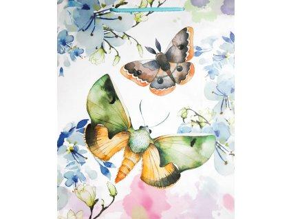 Dárková taška motýl 3 44 x 32 cm