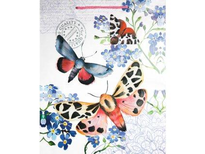 Dárková taška motýl 4 32 x 26 cm