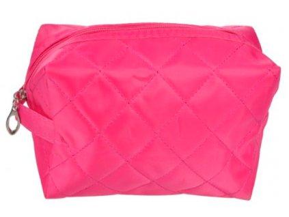 kosmetická taška prošívaná tmavě růžová