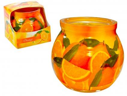 vonná svíčka pomeranč